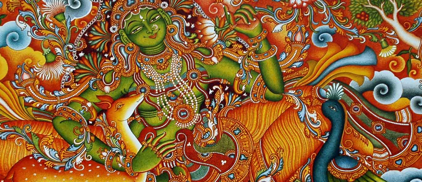 The second project A world famous book in the from of Mural depiction,after ramayan from Prince Thonnakkal  & Sangeetha Prince